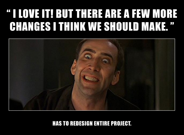 Few changes on a project be like...