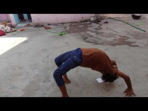 Round off back hand spring in hindi