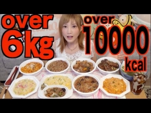 [MUKBANG] 8 Bowls of Fried Rice and Donburi Dishes Weighing over 6Kg and 10,000kca