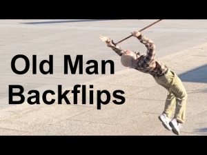 Old Man Backflip Challenge
