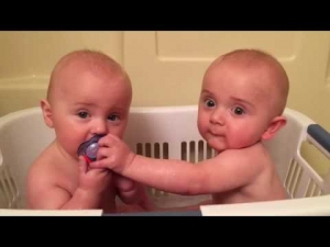 Twins Share A Pacifier | Cutest Moments